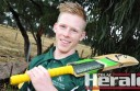 Colac West cricket star Dylan Flanigan is excited to represent the Colac district in Sunday's match against the Warrnambool District Cricket Association at Warrion.