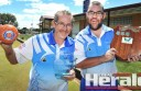 Colac Bowling Club lawn bowlers Maurie Oates, left, and Steve Nelson won Bowls Victoria's Integrated Pairs Tour-nament, which unites able-bodied bowlers with people with disabilities. Thirty-two pairs contested the statewide competition this week.