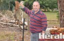 Yeodene's Rick Brown faces a $10,000 bill after a storm ripped through his property.