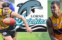 Callum Buchanan, left, and Brad Dick are among Lorne's football recruits for 2015.