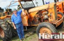 Irrewillipe farmer Stuart Robb with his 1956 Chamberlain original dual tractor at the heritage festival.