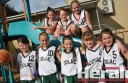 Colac's under-12 girls' basketballers will be among more than 400 players contesting Colac's annual junior tournament this weekend. Pictured, from back left, are Ava Cuolahan, Hannah Williams and Tamzyn Harty. Front, from left, are Bronya Pyne, Ebony Higgins, Ellie Pownceby, Isobel Scott and Leah Perkins. Cody McNamara and Molly McCrae are absent.