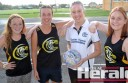 The Colac Tigers will field a team in the Geelong league under-19 netball competition in 2015. Tigers, from left, Sarah Mulgrew, Zoe Uwland, coach Megan Parker and Steph McGlade are among the team's first members.