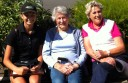 alented Colac junior golfer Georgia Fish, left, has won a scholarship in honour of the late Colac Life member Maurie Nielsen. Fish is pictured left with Mr Nielsen's wife, Val, centre, and daughter, Kay.