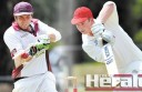 The Colac District Cricket Association will crown its best-and-fairest players at its vote count Friday night. Can returning Colac co-captain Jack Spence, right, stop Stoneyford's Joe Dare from claiming a third straight Bill Johnston medal? Colac district cricket's top-grade captains say Dare is going to be hard to beat.