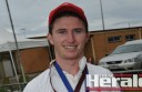 Alvie's Liam McGuane won the most valuable player medal in the Swans' A Grade grand final win against Stoneyford.