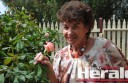Award-winning gardener Patricia Day has been able to spend less time watering thanks to February's higher-than-average rain.