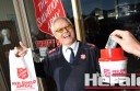 Colac Salvation Army's Major Alan Jenner will be collecting money for the organisation's Red Shield Appeal later this month.