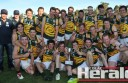 Colac District Football League representatives celebrate their thrilling come-from-behind win against the Golden Rivers league in the AFL Vic Country Championships.