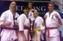 Six Colac karate enthusiasts claimed medals at state championships. Pictured, from left, are Simon Scott, Leanne Callahan, Rhys Brain, Maddy Callahan and Mark Hanlon.