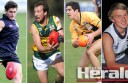 State selectors have chosen, from left, former Colac footballer Dylan Hodge, Simpson's Joel Haward, Colac's James Linton and Jack Williams in initial Vic Country squads ahead of one-off matches next month.