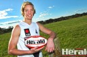 Winchelsea footballer Darcy Parish, pictured, earned back-to-back All Australian honours after another dominant performance for Vic Country at the 2015 NAB AFL Under-18 Championships. The Geelong Falcons onballer is widely tipped to go to an AFL club as a top pick at the draft later this year, but Parish isn't daunted by the hype.