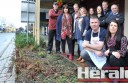 Front right, business owner Cressi Golding has the support of more than 19 other central Colac traders who have asked Colac Otway Shire Council to improve untidy garden beds in the Colac's Murray Street shopping area.