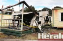 Three Colac men helped control a fire at Lake Colac Caravan Park on Monday night before fire crews arrived. An alleged offender will face arson charges at Colac Magistrate's Court next month.