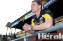 Colac AFL export Nathan Foley, pictured at Punt Road Oval, has called time on his decorated career with Richmond.