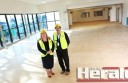 Sue Wilkinson and Frank Buchanan on a tour of Bluewater in July.