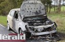 A Forrest woman's car caught fire on Birregurra-Forrest Road near Barwon Downs on Wednesday afternoon.