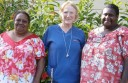 Carmel O'Brien, pictured centre with Torres Strait Island health workers Sainty Kaigey, left, and Janni Noah, said her time as a nurse in the islands was brilliant.