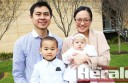 Philippines-born Jose Del Rosario and his son Gabriel, 3, became Australian citizens during a Colac Otway Shire Citizenship Ceremony yesterday. Jose's wife Doreen and their daughter Bianca Del Rosario, 11 weeks, looked on.