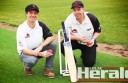 Irrewarra Cricket Club junior co-ordinator Sam Kelly, left, and president Jaccob Rodda say the club's move to an oval at Colac Secondary College will help develop its next wave of cricketers and create more opportunities for the Redbacks.