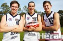 Colac district footballers Tom Rieniets, Zach Zdybel and Ben McCarthy made their TAC Cup finals debuts on Saturday. The Geelong Falcons meet Eastern Ranges in this weekend's semi-final.