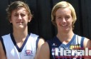 prospects Ben McCarthy, left, and Darcy Parish will test in front of AFL recruiters from tomorrow.