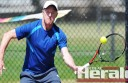Colac Lawn Black tennis player Jim Ennor, pictured, won two of his three sets on Saturday to help his side beat Beeac 51-29 on its home courts at Colac.