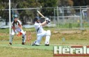 Irrewarra opening batsman Kane Quickensted blasted a century in the club's Division One debut at its new home in Colac.