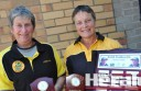 State archery officials have honoured Colac Otway Archers members Lorraine Black, left, and Barb Kelly for their two decades of contribution to the sport in Colac.