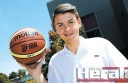 Colac junior basketballer Rhys Lemke, 14, is on track for a career in the sport after earning his first state selection.