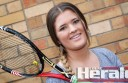 Colac Lawn Black youngster Beth O'Brien, pictured, has returned to the tennis court after injury derailed her 2014-15 season.