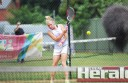 Pennyroyal's Rhiannon White, pictured, and her side had its first loss of the 2015-16 tennis season on Saturday at the hands of newcomers Colac Lawn Black.