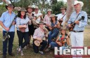 Members of the Birregurra Ukulele Collective, from left, Denis Fielding, Fiona Brandscheid, Graham Burrell, Jock MacFarlane, Susie Coulson, Anna Hoedeman, Catorina Holyoake, Clive Brooker, Julie Payne and Simon Oldfield are preparing to perform at Colac Otway Shire Council's Australia Day celebrations at Birregurra tomorrow.