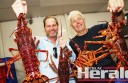 Apollo Bay's Markus Nolle and Nick Polgeest hope rock lobster quotas will increase under a new management plan.
