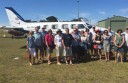 A group of 16 Colac and district friends chartered two small planes to take them from Irrewarra Airfield, east of Colac, to King Island for a New Year's Eve holiday.