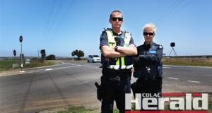 Winchelsea police Leading Senior Constable Andrew Osborne and Sergeant Janet Gleeson want a roundabout at the Winchelsea-Deans Marsh and Cape Otway roads. They are concerned about a spate of crashes relating to people failing to slow down before the intersection.