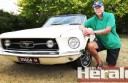 Laurie Foster enjoys driving his classic 1967 Mustang GTA car along the Great Ocean Road.