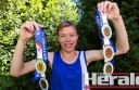 Colac para-athlete Kirstie Newcombe has won five gold medals at Victorian and Victorian Country championships this year.