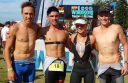 Colac athletes Craig and Grant Davis, Katherine Hindle and Jarron Cole will represent Australia at triathlon events later this year.