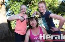 Ella, left, and Hannah are excited to shave their mum Cheree Williams' head this weekend. Cheree decided to shave her head to show support for people with cancer.