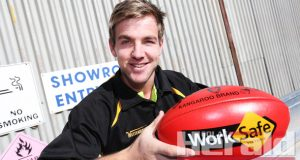 WORKING HARD: Colac Tigers recruit Tyler Murnane has made a good impression at his new club, playing all 13 games since crossing from Colac district club Alvie this season.