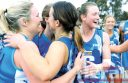 WINNERS: South Colac A Grade netballers celebrate winning back-to-back premiership after their comfrotable 10-goal win against Simpson.